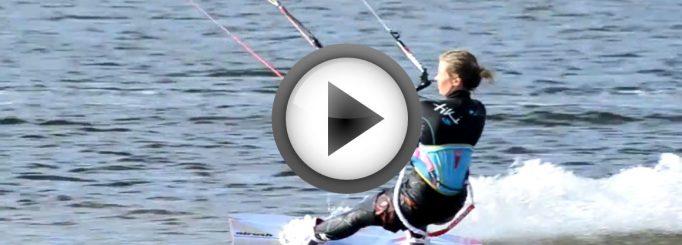 Lina in kitesurfing video from Finland – Summer 2013