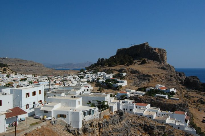 Lindos white city Rhodes