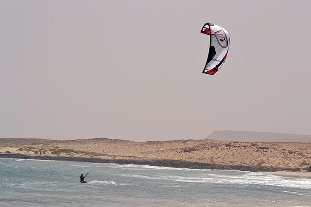 Kitesurfing at Boa Vista